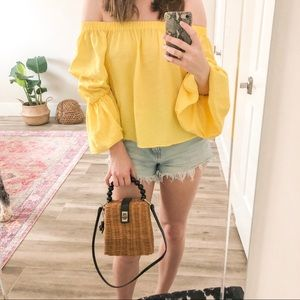 NWOT The Impeccable Pig Yellow Top